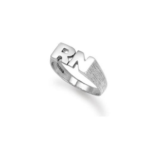 9ct White Gold 3.0g Initial Ring