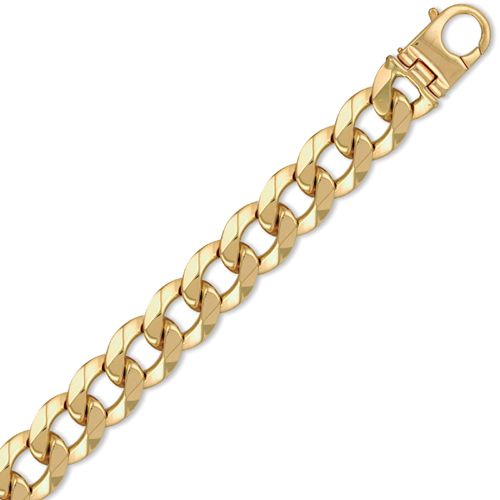 9ct Yellow Gold 9 Inch 4.0oz Heavy Weight Solid Curb Bracelet