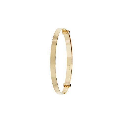 9ct Yellow Gold Childrens 3mm Expandable Plain Bangle