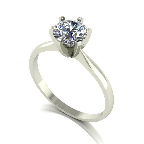Forever One Moissanite 18ct White Gold 1.00 Carat Solitaire Ring