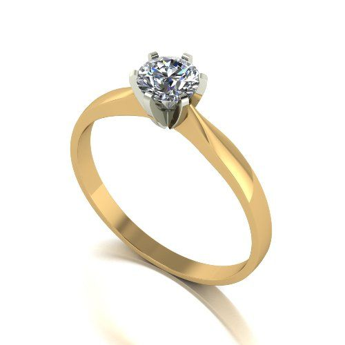 Forever One Moissanite 18ct Yellow Gold 0.50 Carat Solitaire Ring