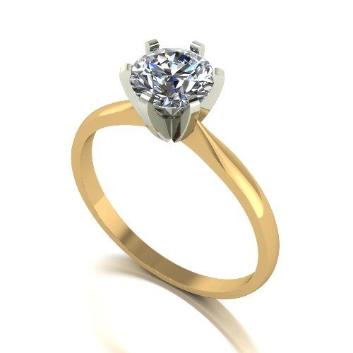 Forever One Moissanite 18ct Yellow Gold 1.00 Carat Solitaire Ring