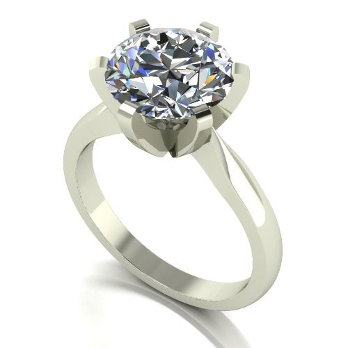 Forever One Moissanite Platinum 4.00 Carat Solitaire Ring